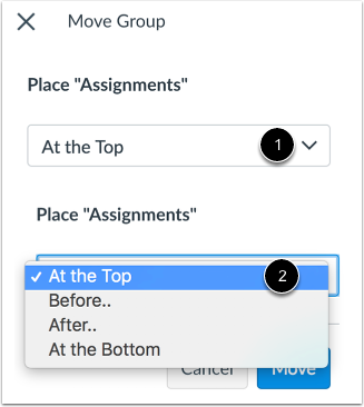 Place Assignment Group Location