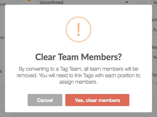 clear team members