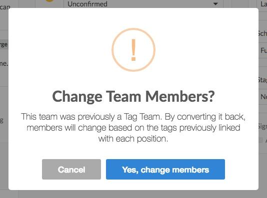 change team members