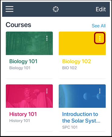 Assign Course Color