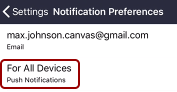 Set Notifications for All Devices