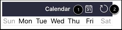 View Calendar Settings