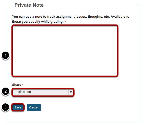 Private note.