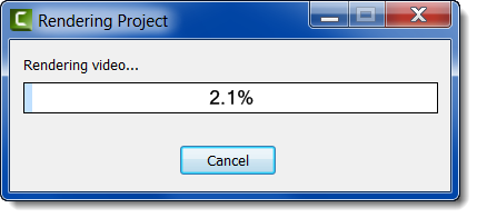 rendering progress bar