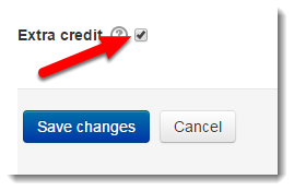 Extra credit check box.