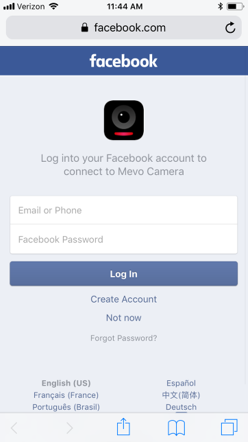 Log into a different facebook account mevo help alternatively you can clear your safari browsers history and website data in the ios device settings this will also log you out of your facebook account ccuart Image collections