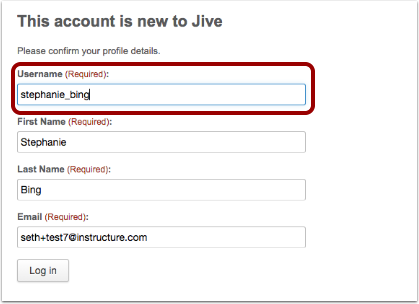 Option 1: Edit Username During Registration Process