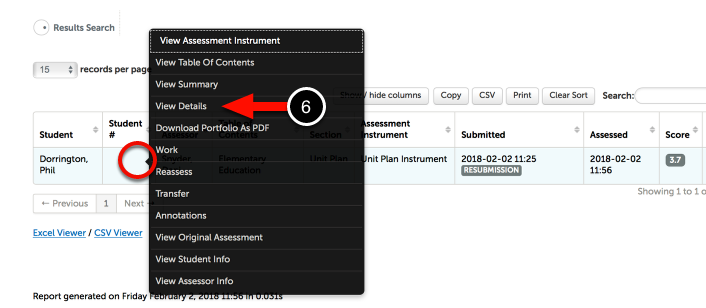 Step 3: Reveal Assessment Options