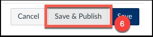 click save & publish
