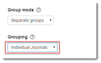 Grouping is set to 'Individual Journals'.