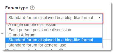 Standard forum type is selected.