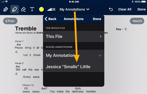choose annotations