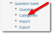 Categories link is selected