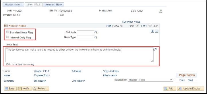 Line Info 1 tab