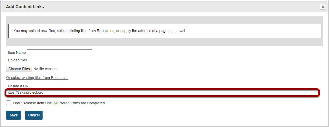 Enter the web address.