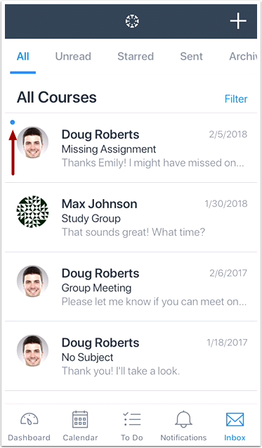 View Conversations Messages