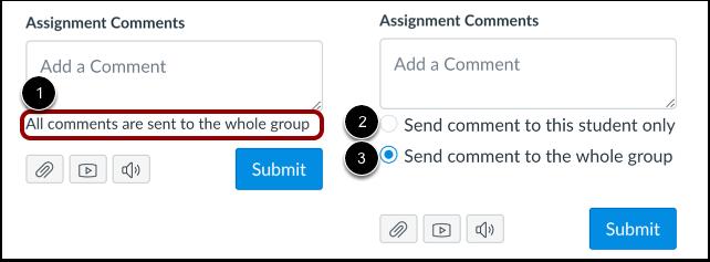 Ver comentários da tarefa de grupo