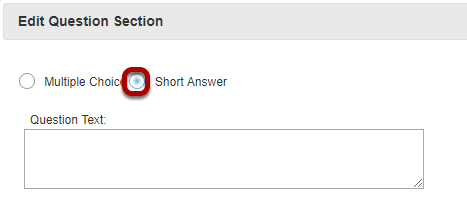 Select Short Answer.