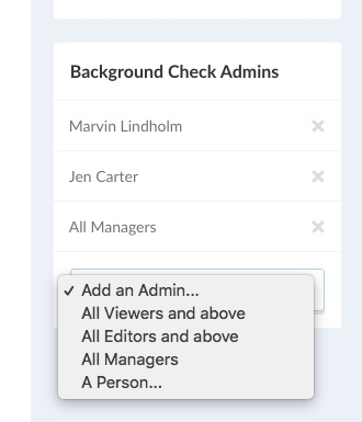 background check admins