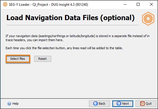Select navigation file