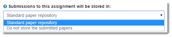 standard paper repository selected