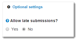Allow late submissions is selected.