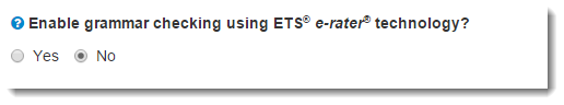 ETS e-rater technology option