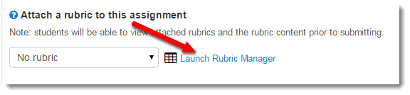 Attach a rubric to this assignment option