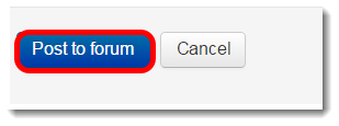 Post to forum button is selected.