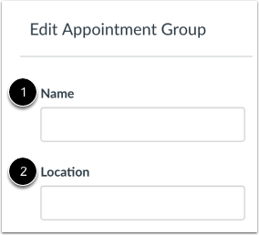 Create Name and Location