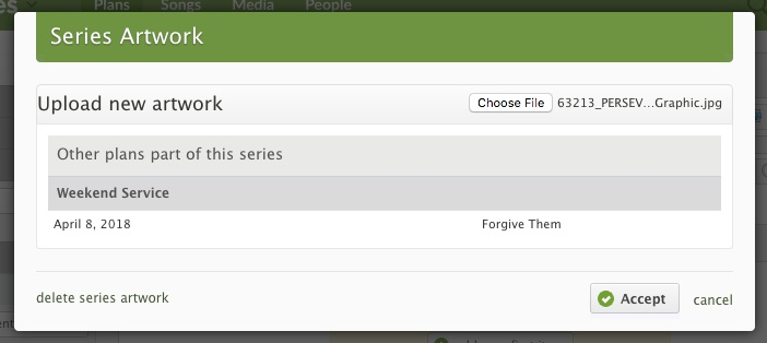 Click Choose File to add an image.