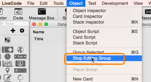 Stop Editing the Row Template Group
