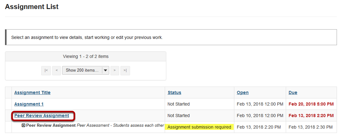 Submit your assignment.