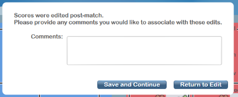 Post-Match Comments