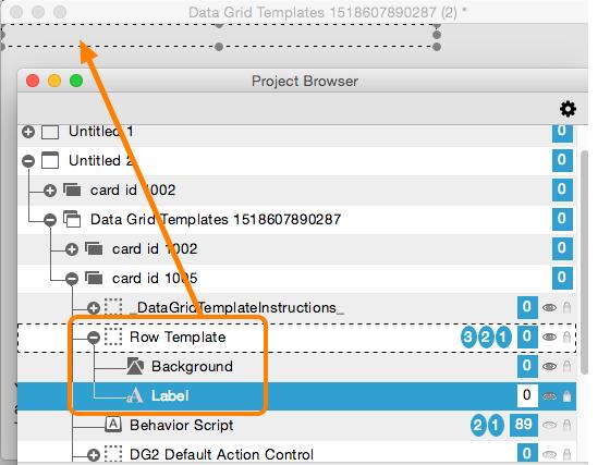 how do i customize a form s row template livecode data grid