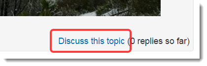 Discuss this topic button is selected.