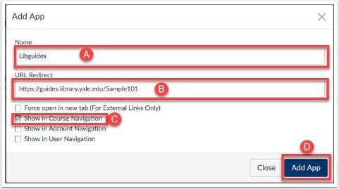 screenshot to show how to fill out the redirect tool options.