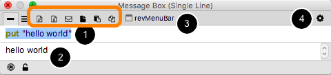 Message Box (MB) command line mode (tab 1)