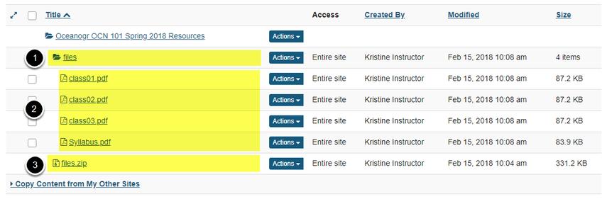 View zip contents in Resources