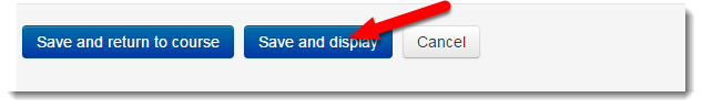 Save and display button is selected.