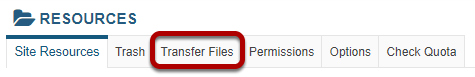 Click Transfer Files.