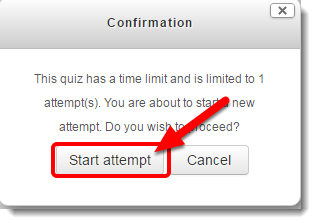 Start attempt button is selected.