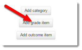 Add grade item button is selected.