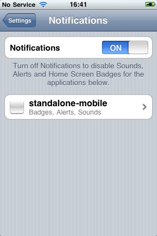 Configuring Push Notification Settings