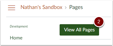 Canvas Pages - View All Pages button