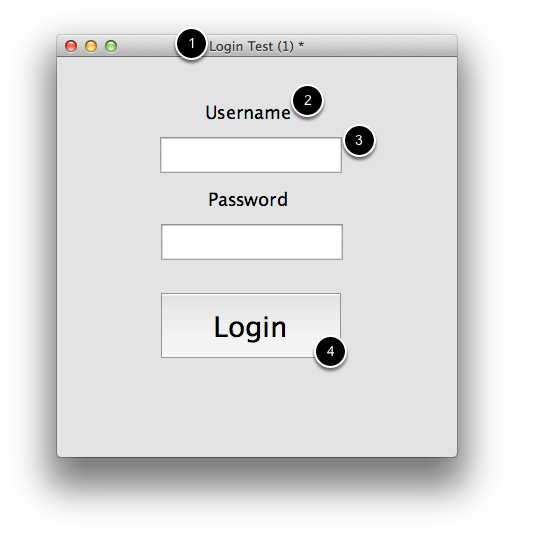 Create Login card elements