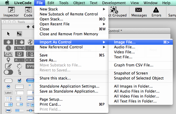 Importing Images