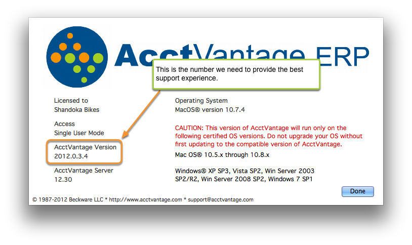 AV Server Version