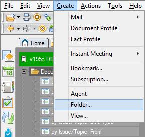 Creating the Folder