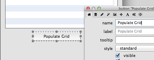 Populate the Data Grid